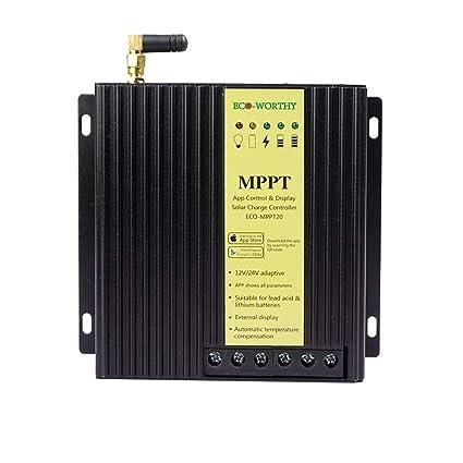 Amazon.com: ECO-WORTHY MPPT - Controlador de energía solar ...