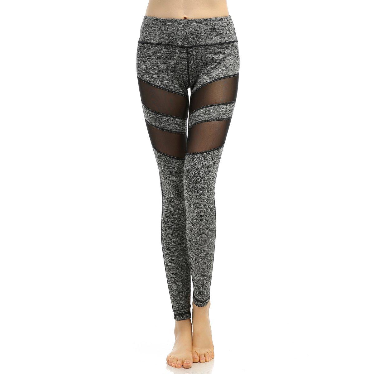 Chaiyan Frauen Sporthosen Yoga Leggings Workout Hose Laufhose Gym Leggings Neun Hosen