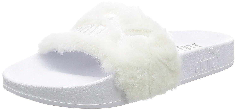 "Rihanna X Puma Leadcat Fenty Flur Sandals ""WHITE"" 36226602 Women's Sz 8.5W US"