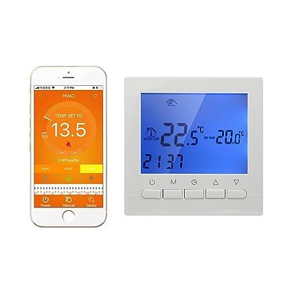 3A - Termostato caldera gas Termostato inteligente WIFI de pared controlado por smartphone APP Termostato programable