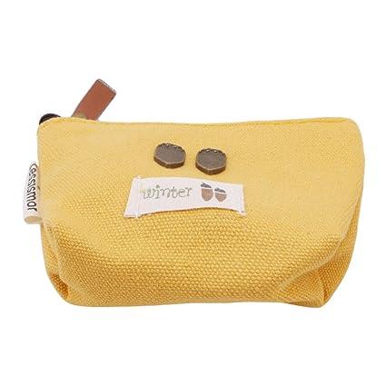 Yinew - Bolso cambiador de lona, estilo vintage, multicolor, monedero, cartera,