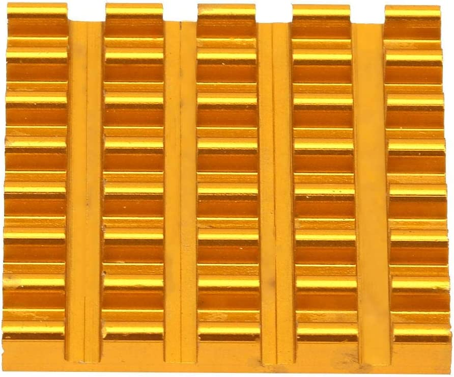 P2203-Go 22223mm Woyisisi 10pcs Aluminum Gold Heat Sink Chip Cooling Fin P2206-Go//P2203-Go