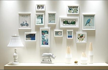 57566691 AI XIN SHOP Muro de Madera Americano Foto Marco de Fotos Galería Dormitorio  Restaurante Pared colección
