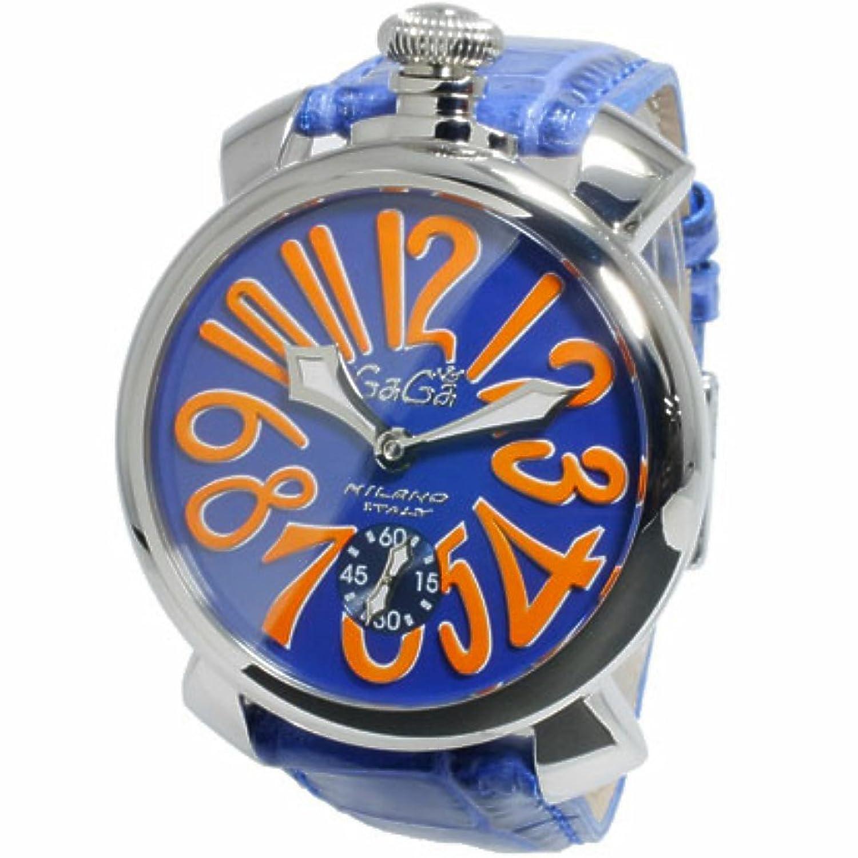 ガガミラノ GaGaMILANO マニュアーレ48 手巻き メンズ 腕時計 5010.08S-BLU[並行輸入品] B00NCMSV7C