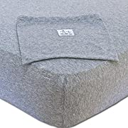 Baby and Toddler Cotton Crib Sheet - Fitted - for Boys and Girls - By MoM-me - Gray