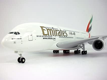Airbus A380 (A380-800, A-380) Emirates 1/200 Scale Model Airplane
