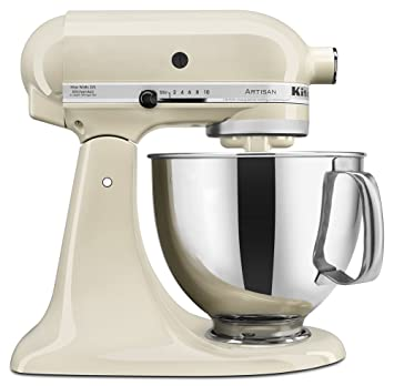 KitchenAid KSM150PSAC Artisan Series 5 Qt. Stand Mixer With Pouring Shield    Almond Cream
