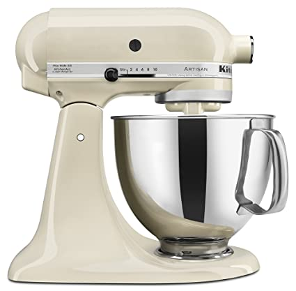 b957cc7e756 Amazon.com  KitchenAid KSM150PSAC Artisan Series 5-Qt. Stand Mixer with Pouring  Shield - Almond Cream  Electric Stand Mixers  Kitchen   Dining