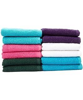 Casa Copenhagen Basics 10 unidades cara/Wash Cloth Toallas en cinco colores surtidos