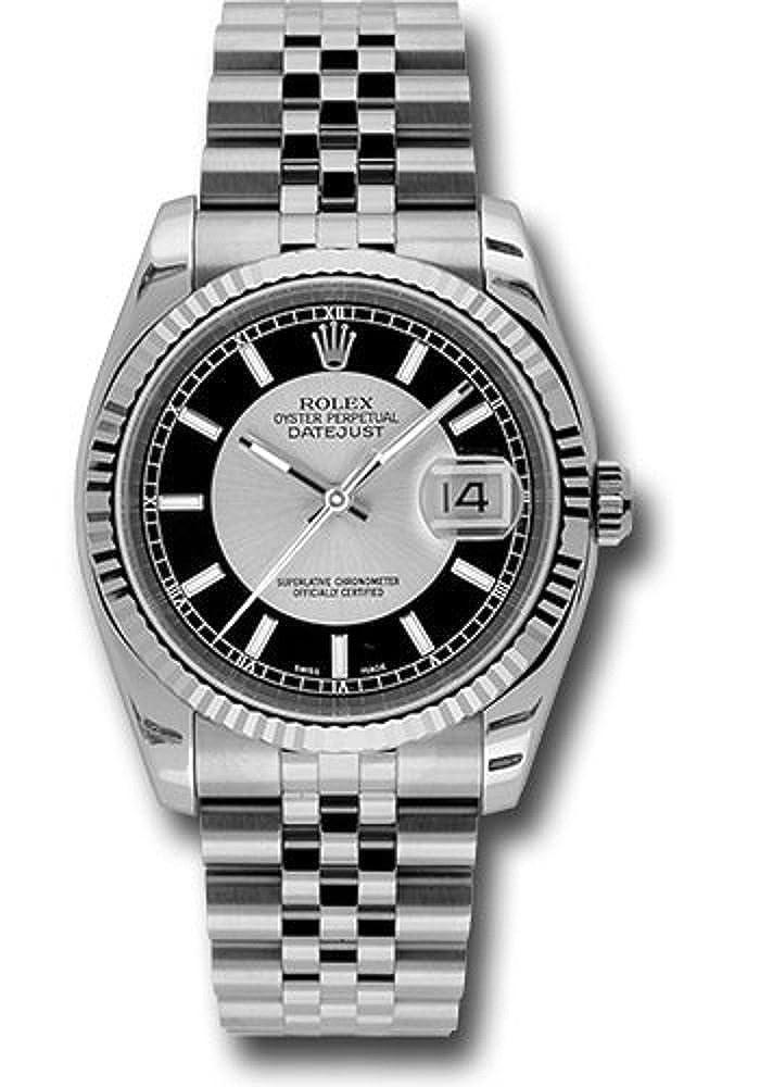 Rolex Oyster Perpetual Datejust 36 mm boîtier en acier inoxydable ...
