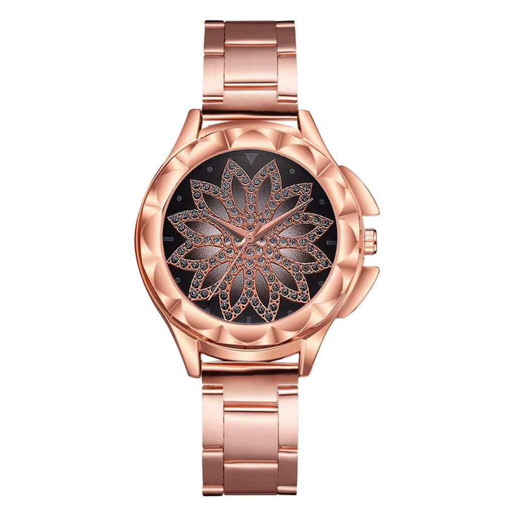 Hotkey Womens Bracelet Watches On Sale Womens Watches On Sale Fashion Mesh Diamond Gift Quartz Watch