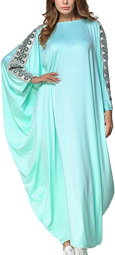 Túnica Musulmana de Kaftan de Moda Para Mujer, Vestido Maxi ...