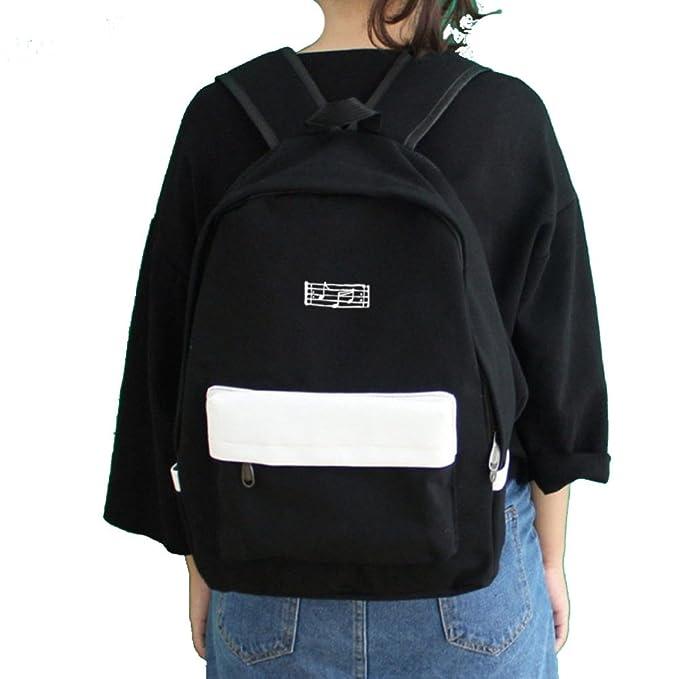 WUZHI Mochila De Lona Mochila Unisex Mochila Duradera Ladies Travel Shoulder Bag Mochila Mochilas Escolares De La Escuela Compras/Fiesta/Oficina ...