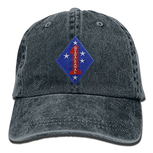 - KERLANDER Marine Corps First Division Adjustable Embroidery Washed Twill Baseball Cap Dad Hat