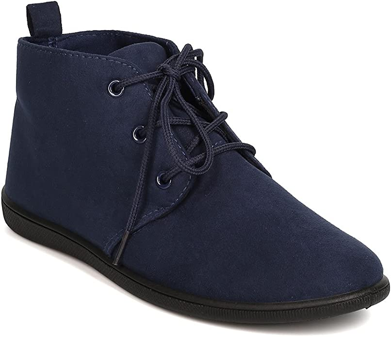 Details about  /New Women Refresh Avenue-01 Faux Suede Round Toe Chunky Heel Ankle Boot