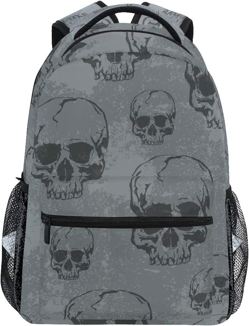 Skull Backpacks Travel Laptop Daypack School Bags for Teens Men Women