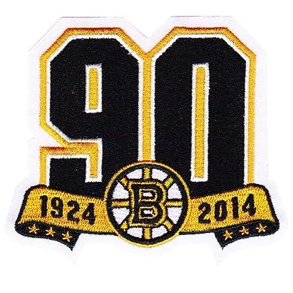 amazon com 2013 boston bruins team 90th anniversary season logo