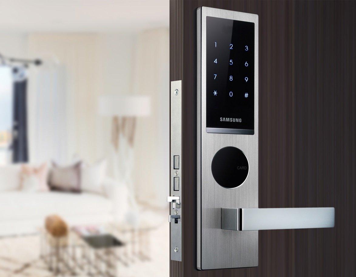 Samsung Smart EZON cerradura para puerta shs-h635 shs-h635fbs/en cerradura de puerta Digital versión en inglés (nueva versión de SAMSUNG SHS-6020): ...