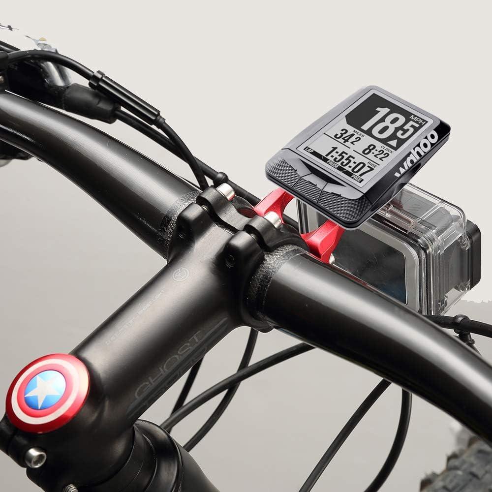 Dwigh Soporte de soporte delantero para bicicleta GARMIN Edge 1000 820 Gopro