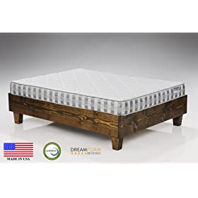 DreamFoam bedding ultimate dreams twin crazy quilt mattress