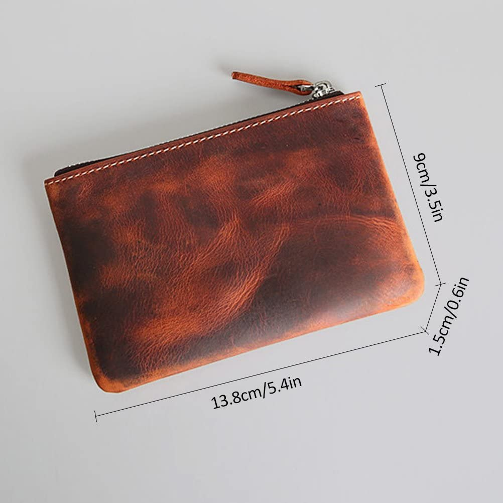 Coin Purse Pouch Fmeida Mens Leather Zipper Change Holder Slim Wallet