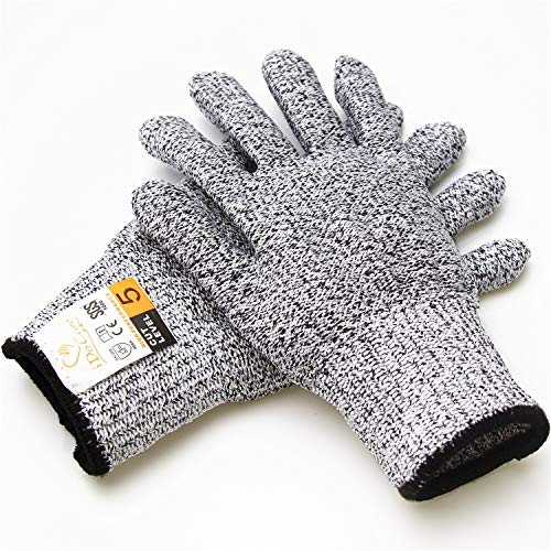 iDoCare Cut Resistant Gloves - High Performance EN388 Cut Level 5 Protection, Food Grade - Safty Gloves for Hand Protection and Yard-work, Kitchen Glove for Cutting and Slicing