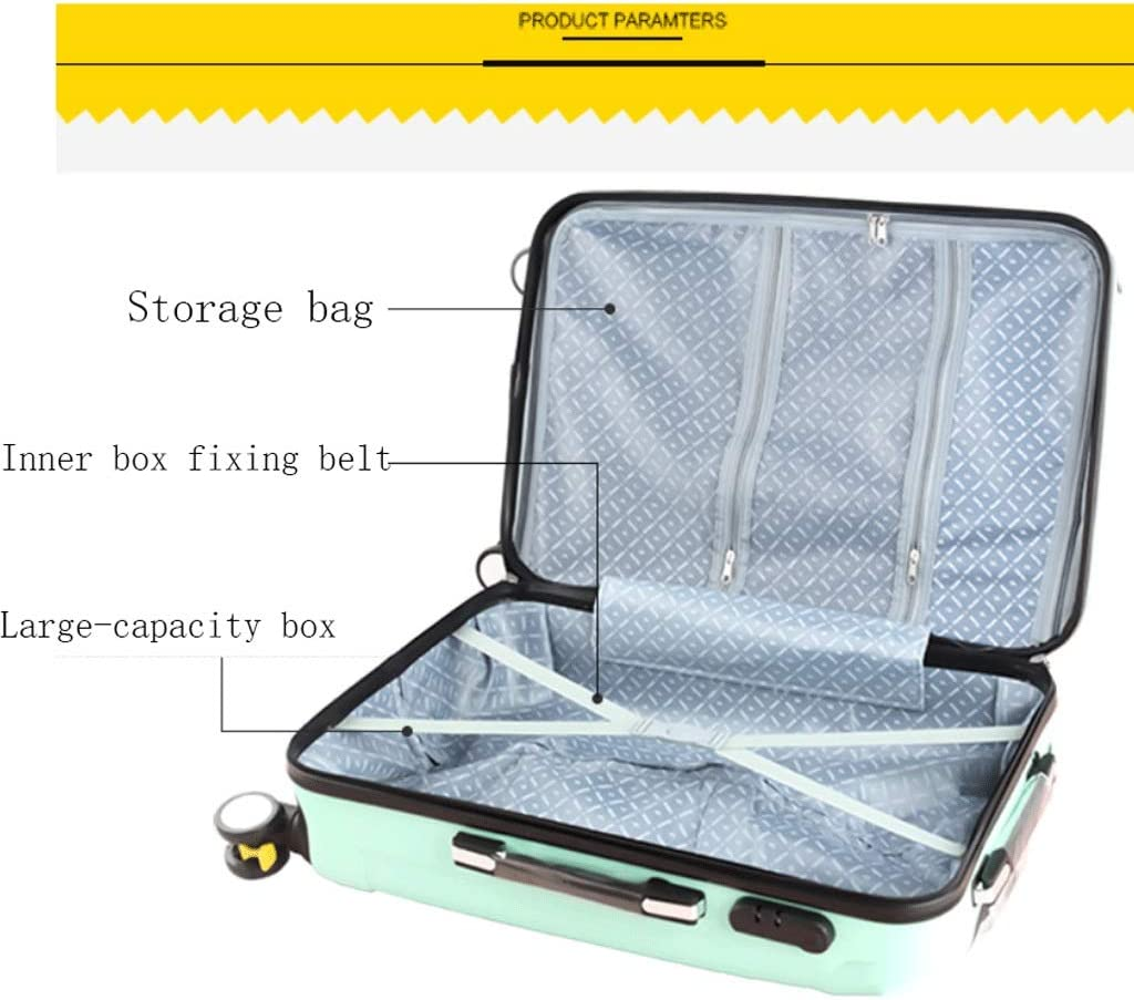 HUANGDA with Extended Luggage Male Trolley Case Password Box Suitcase Large Capacity Luggage 26 College Student Brake Wheel Color : Black, Size : 24 inches