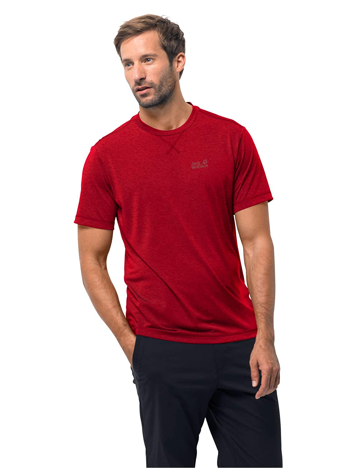 Jack Wolfskin Crosstrail T Mens Quick Drying and Odor Inhibiting T-Shirt