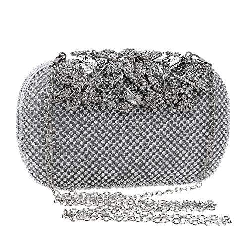 Diamante Mariage Main Pour couleur Argent Discothèque Noir À Sac Enveloppe Purse Fête Zhongsufei Style Soirée Pochette Dames Clutch nXqw7S4vx