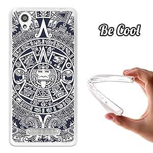 BeCool® - Funda Gel Flexible ZTE Blade X3 Azteca Calendario Carcasa Case Silicona TPU Suave