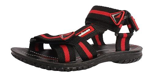 eff5ba3046f WALKMATE Boys  Black Leather Outdoor Sandals - 7 UK  Buy Online at ...