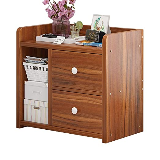 Amazon.com: Nightstands Bedside Table Drawer Wood Cabinet ...