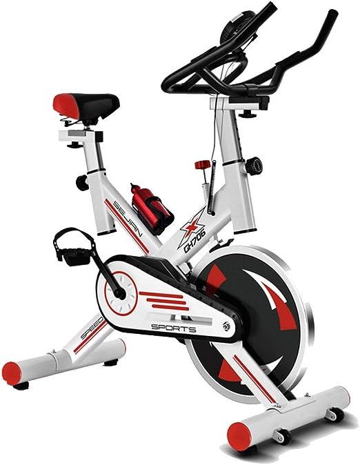 MIAO Equipo de Ejercicios para el hogar Bicicleta de Ejercicio Ultra silenciosa Deportes para Interiores Bicicleta para Adelgazar,White-OneSize: Amazon.es: Hogar