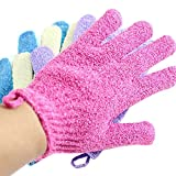 Moonmini® 4 Pair Set Scrubbing Exfoliating Gloves ★...