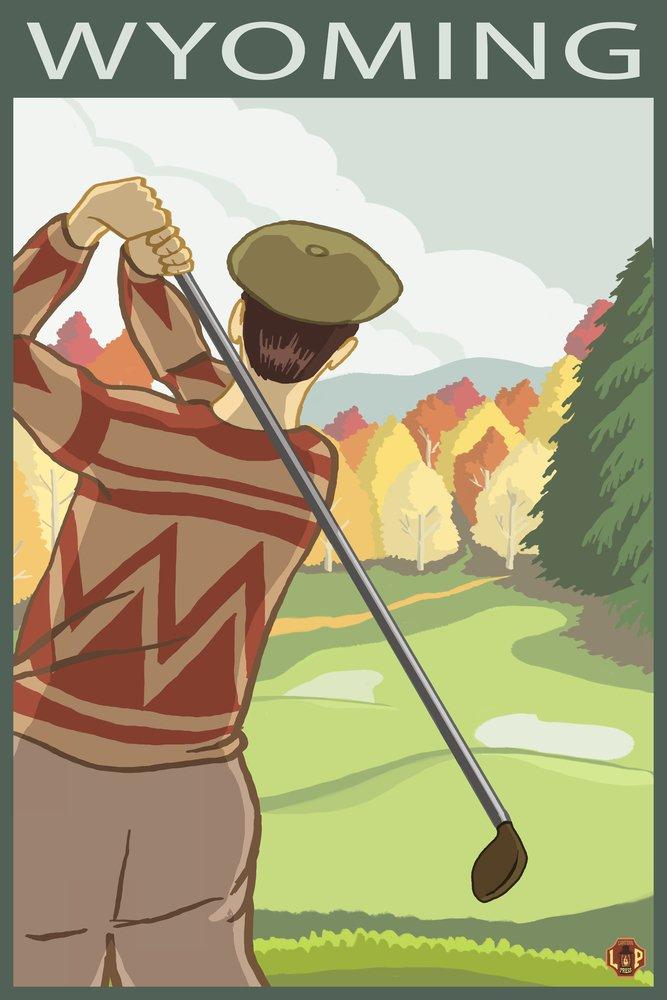 Golferシーン – Wyoming 36 x 54 Giclee Print LANT-16537-36x54 36 x 54 Giclee Print  B017E9TU5K