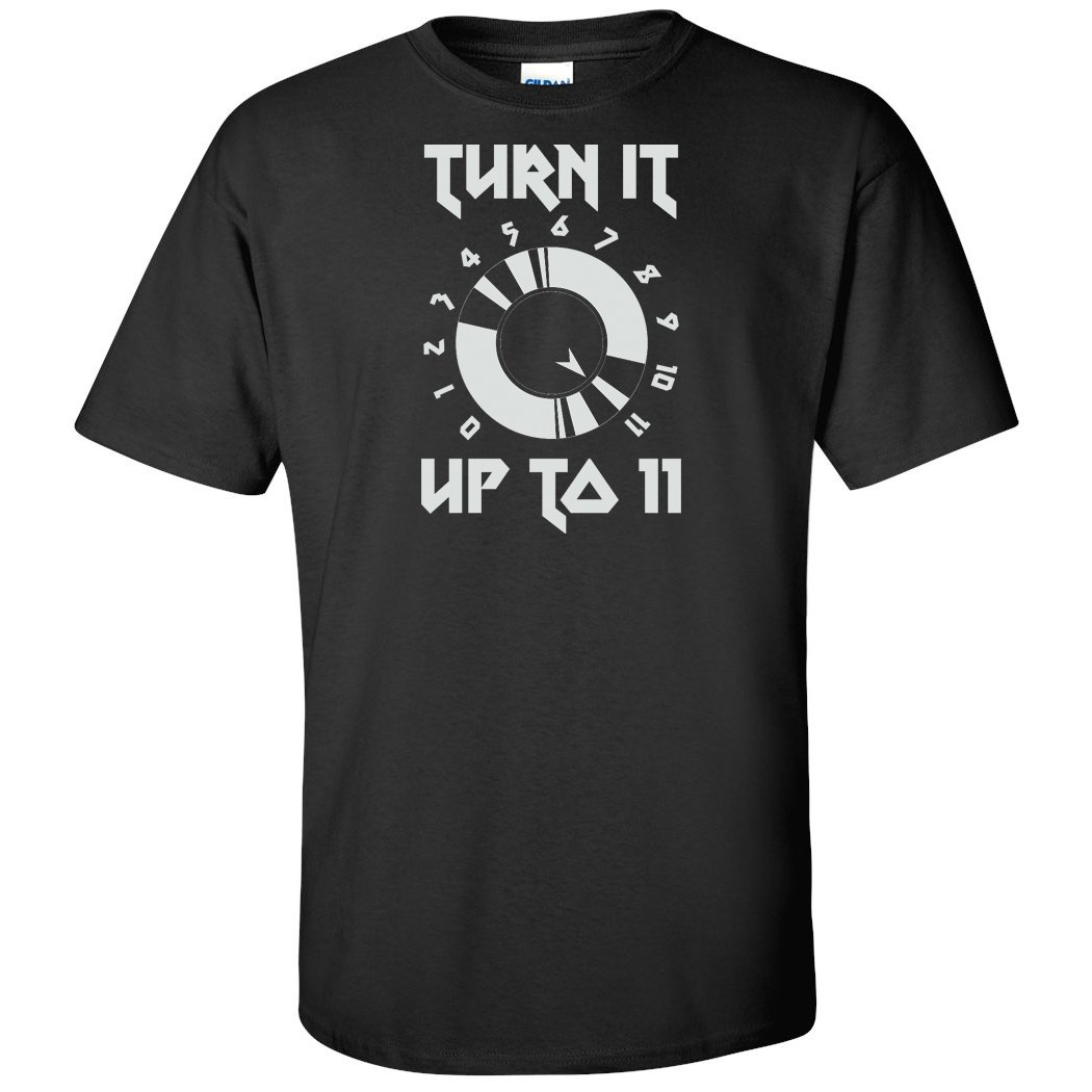 Cheapasstees Turn It Up to 11 Spinal Tap Movie Graphic T-Shirt