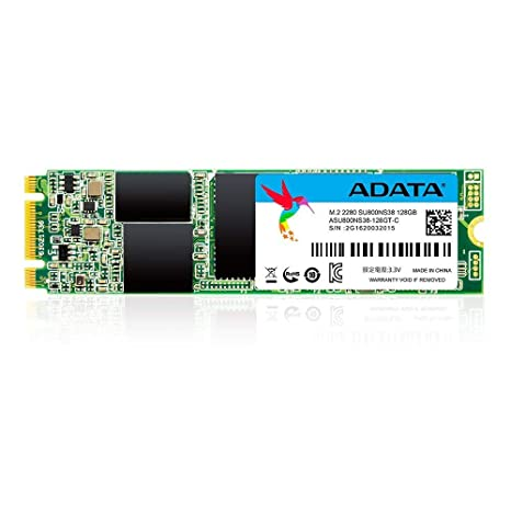 ADATA Ultimate SU800 M.2 128GB Internal Solid State Drive (ASU800NS38-128GT-C) Internal Solid State Drives at amazon