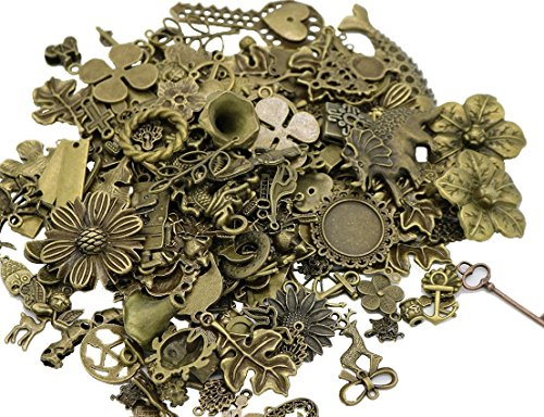 Bronze Antique Assorted Pendants Jewelry