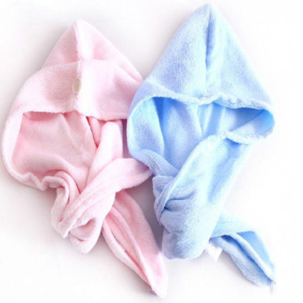 IETONE 2 Pieces Hair Drying Towel Twist Women's Soft Shower Microfiber Towels for Hair Turban Wrap Fast Drying Ultra Absorbent Cap Great Gift for Women