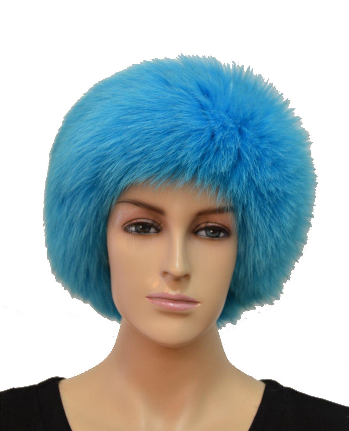 Fox Fur Headband (Blue)