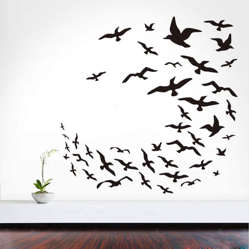 Cmhai Freedom Birds Tatuajes De Pared Muchas Gaviotas Voladoras De ...