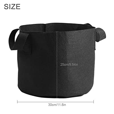 Ruiqas Gallon Black Plants Growing Bag Vegetable Flower Aeration Planting Pot Container (Color : 5 Gallon): Home & Kitchen