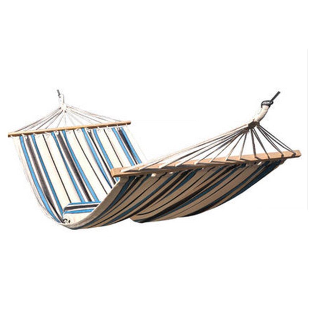 OOFAY Einzelperson Canvas Travel Hängematte 150Kg Kapazität Swing Bett Mit Laubholzstreuer Outdoor Indoor Bed