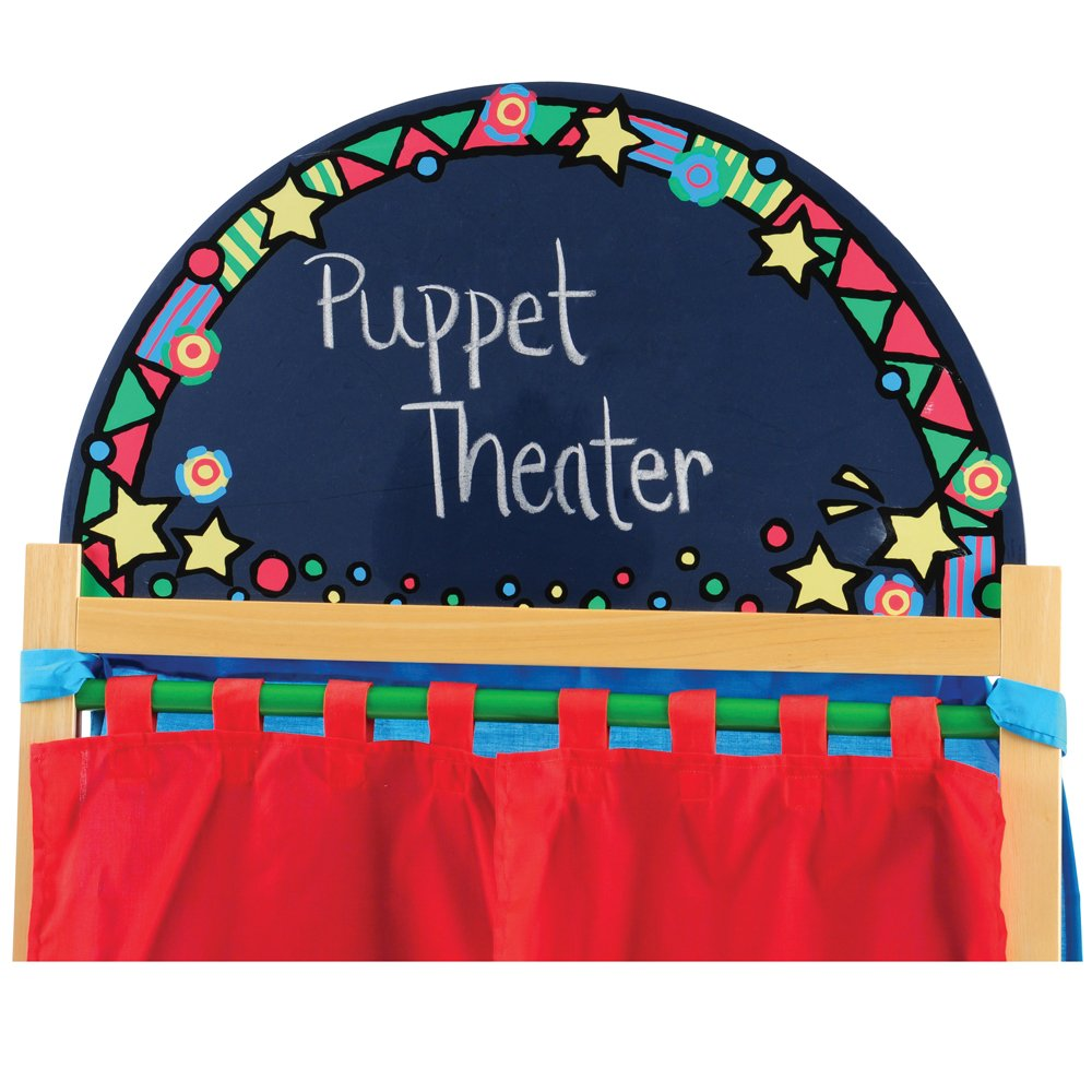 CP Toys Kid-sized Hardwood Puppet Theater with Chalkboard by Constructive Playthings (Image #5)