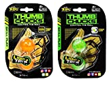 Thumb Chucks Orange and Green 2-Pack Bundle - Skill Play by Zing - Control the Roll Game