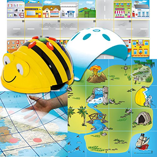 (Bee-Bot TTS Group Starter Set Helps to Teach Algorithms | Improve Directional Language and Programming Skills | Handy Storage Solution & Sequence Cards)