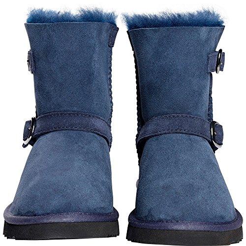 Kirkland Signature Kids' Shearling Buckle Boot, Navy, 2 (Girls Blue Boots)