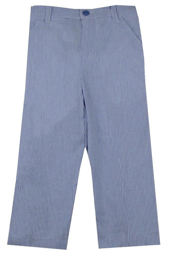Glorimont Blue Stripe Seersucker Pants Baby Boy's Size 10