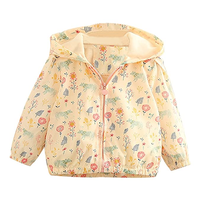 562e7cdff6b3 Amazon.com  Mud Kingdom Little Girls Colorful Catoon Print Hooded ...