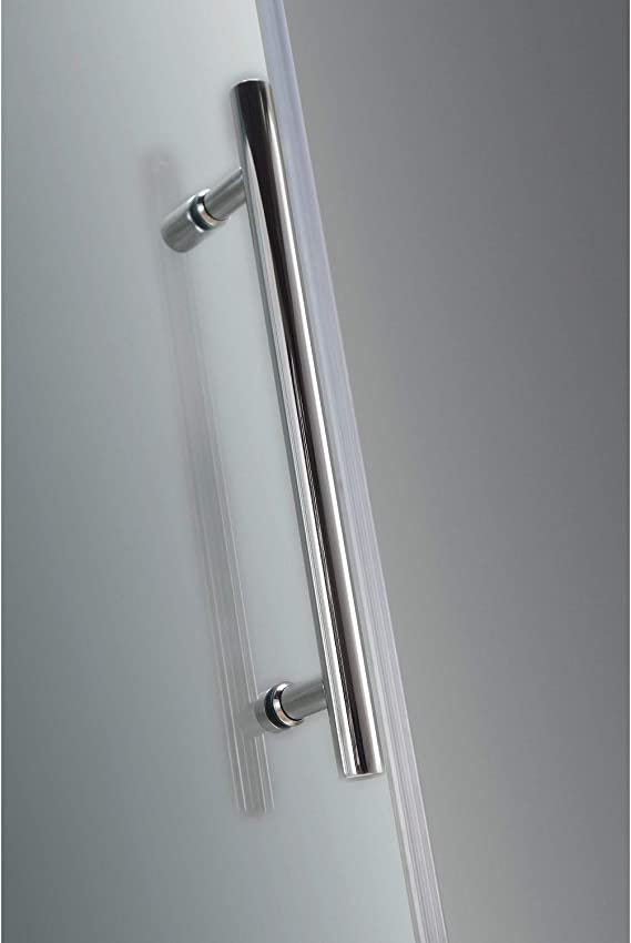 Aston Nautis Gs 59 X 72 Completely Frameless Hinged Shower Door With Glass Shelves Oil Rubbed Bronze Amazon Com